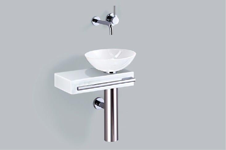 Washplace from glazed steel WP.PI4 - ALAPE