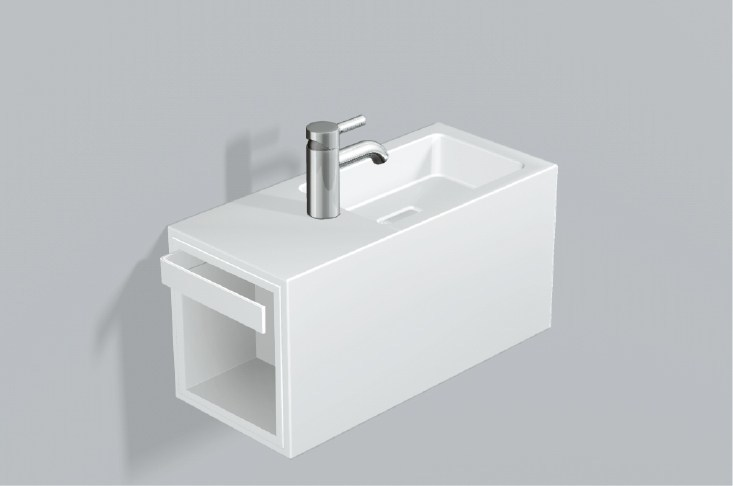 Washplace from glazed steel WP.XS2 - ALAPE