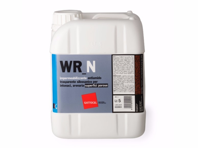 Colourless siloxane water repellent WR_N by Gattocel Italia