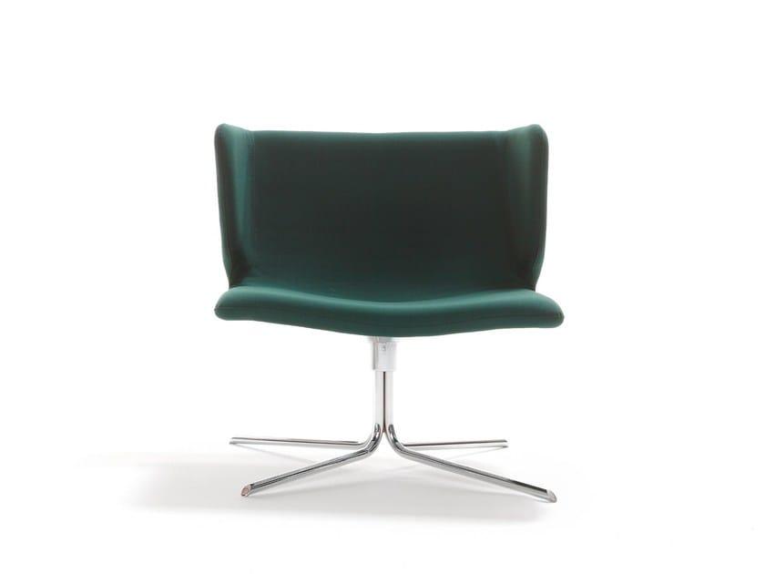 Swivel easy chair with 4-spoke base WRAPP   Easy chair with 4-spoke base by Viccarbe