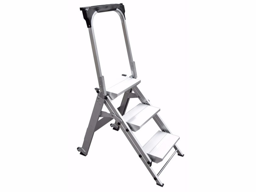 Aluminium heavy duty ladder WT - Frigerio Carpenterie