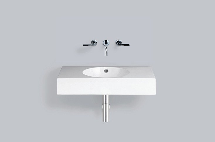Washstand from glazed steel WT.MC800 by Alape