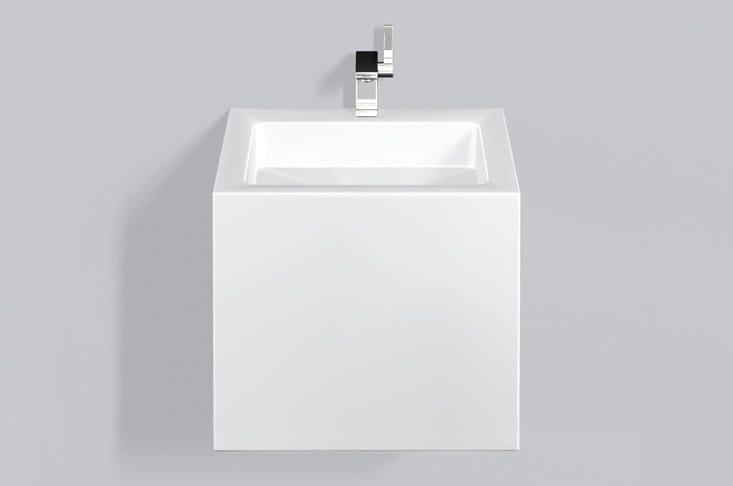 Washstand from glazed steel WT.QS450HX by Alape
