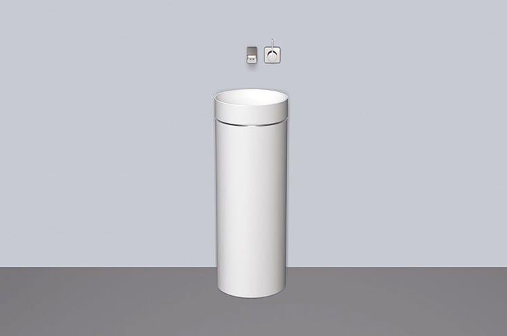 Washstand from glazed steel WT.RX325.KE - ALAPE