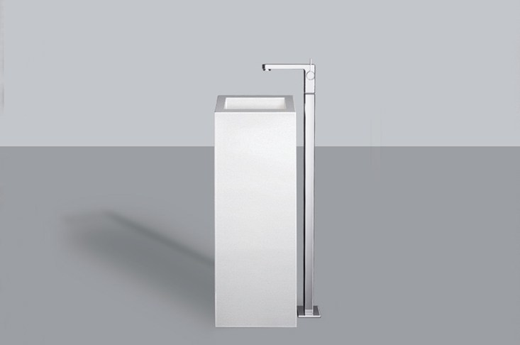 Washstand from glazed steel WT.RX325QS by Alape