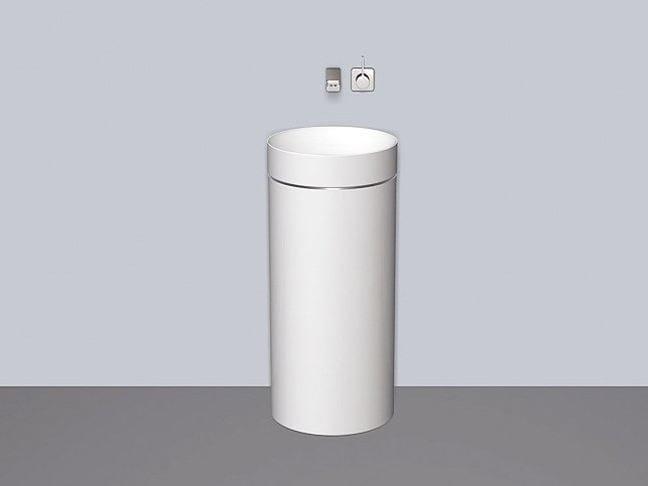 Washstand from glazed steel WT.RX400.KE - ALAPE