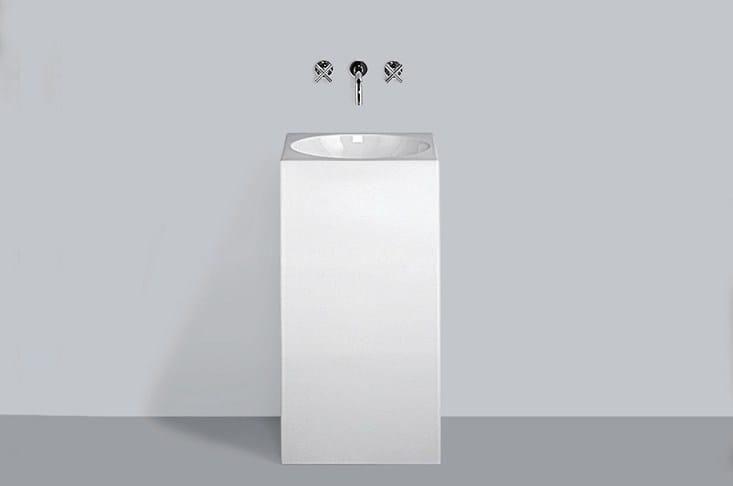 Washstand from glazed steel WT.RX450MC.1 - ALAPE