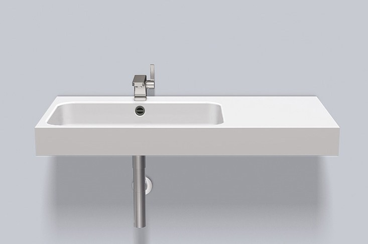 Washstand from glazed steel WT.SR1000H.L/R by Alape
