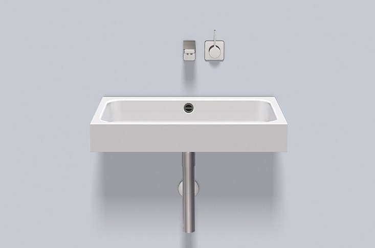 Washstand from glazed steel WT.SR650 by Alape