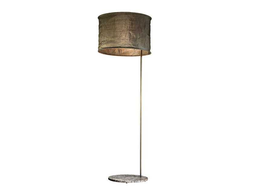 Linen floor lamp WUDÙ | Floor lamp - Arketipo