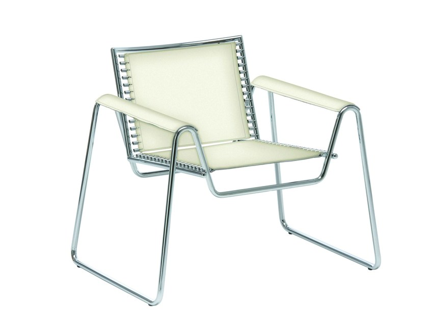 Sled base easy chair with armrests WWW | Sled base easy chair - Midj