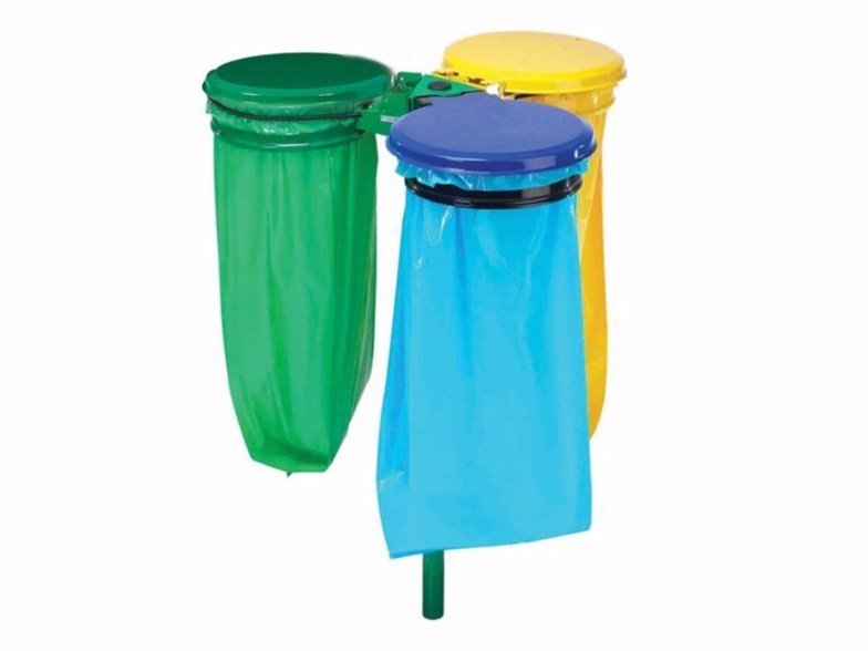 Waste bin with lid for waste sorting Waste bin for waste sorting by Lazzari