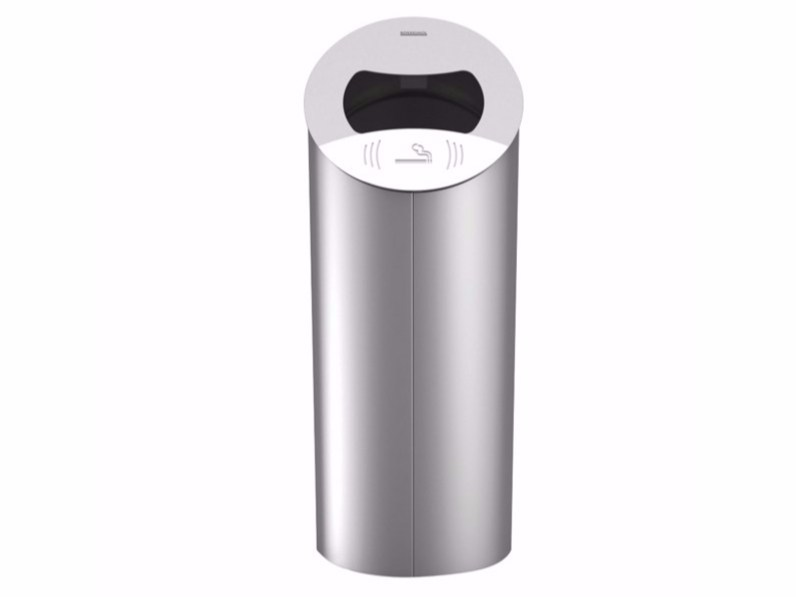 Outdoor metal waste bin with ashtray PIZ - Lazzari