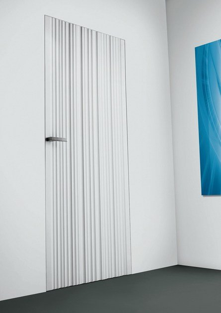 Hinged flush-fitting door WAVE - RES