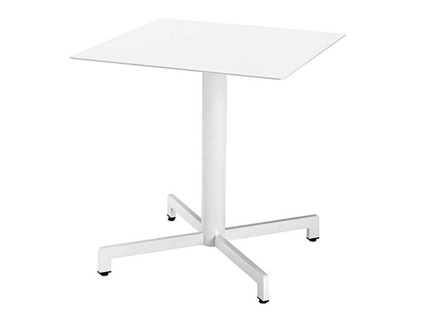 Square steel contract table Web 467 - Metalmobil