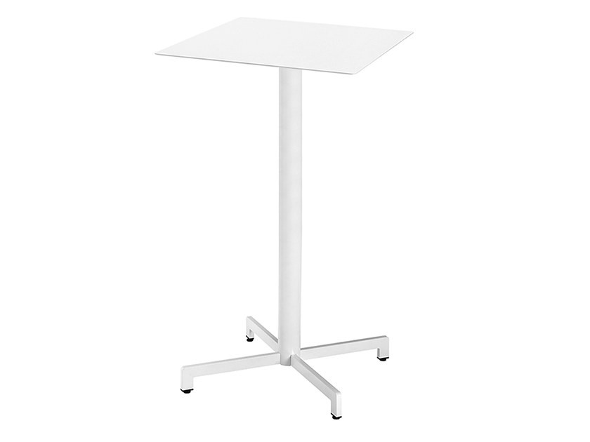 Square steel high table Web 467A by Metalmobil
