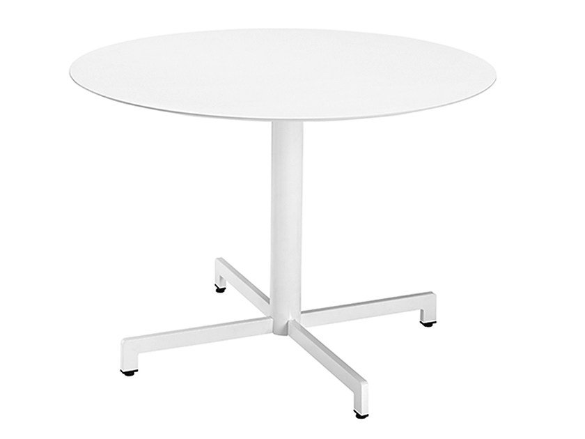 Round steel contract table Web 468 - Metalmobil