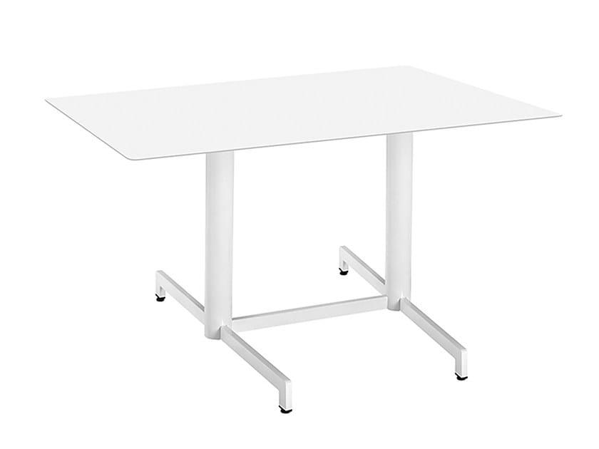 Rectangular steel contract table Web 469 - Metalmobil
