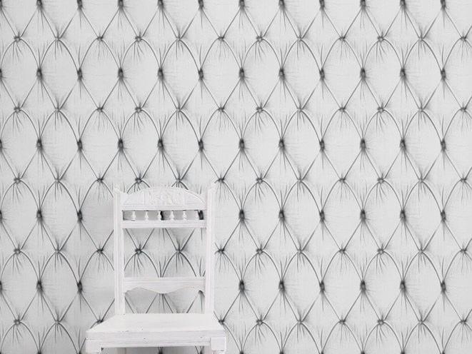Wallpaper WHITE CHESTERFIELD BUTTON BACK - Mineheart