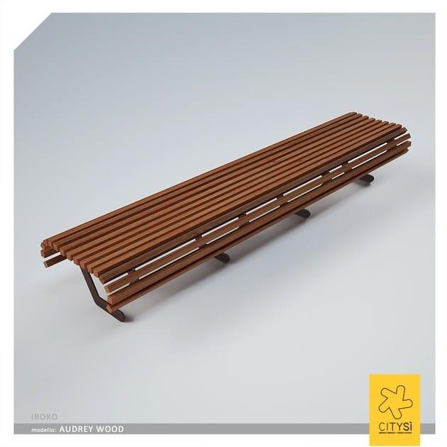 Panchina in legno in stile moderno senza schienale AUDREY WOOD | Panchina senza schienale - CITYSì