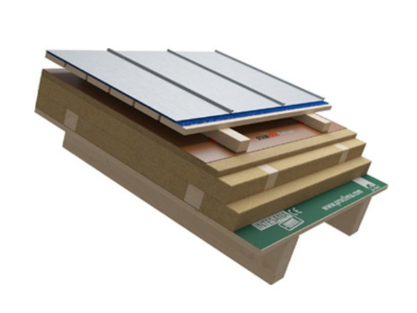 Ventilated roof system Wooden roof with metal covering - Naturalia-BAU