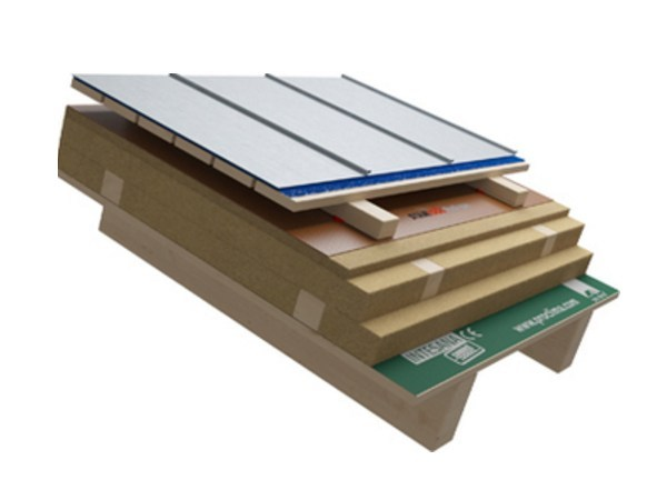 Ventilated roof system Wooden roof with metal covering PLUS - Naturalia-BAU