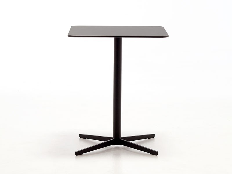 Low bistro side table with 4-star base X FOOT | Coffee table - AREA DECLIC