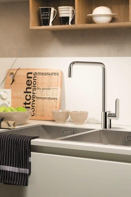 Countertop kitchen mixer tap with swivel spout X-LIGHT KITCHEN   Countertop kitchen mixer tap by newform