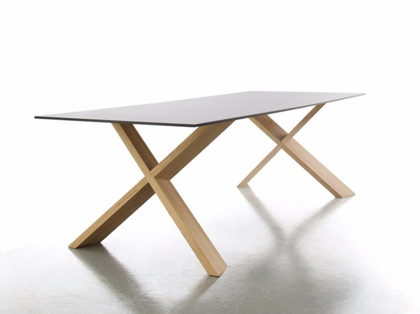 Rectangular laminate dining table X-MAN - conmoto by Lions at Work