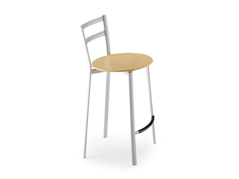 Metal counter stool with footrest X-PRESS | Counter stool - Calligaris