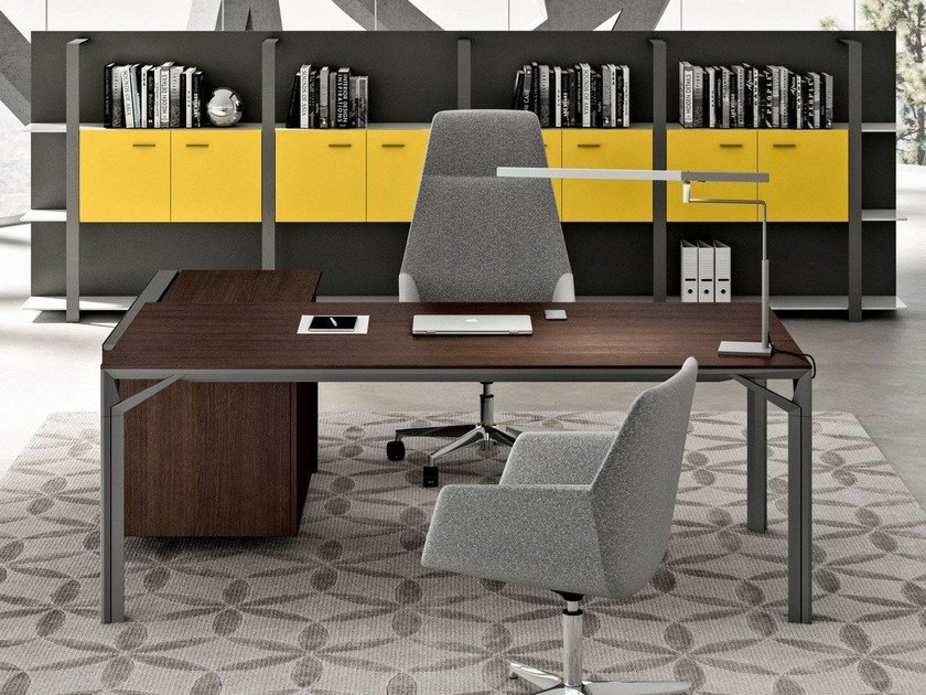 L-shaped executive desk with drawers X9 | Executive desk by Quadrifoglio