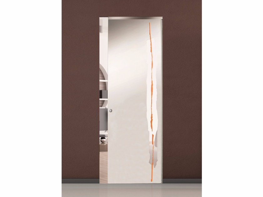 Glass pocket sliding door XENIA - Casali