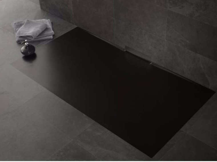 Piatto doccia filo pavimento in acciaio smaltato XETIS by Kaldewei Italia