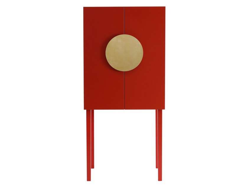 Lacquered MDF highboard with doors XI DELUXE by ASPLUND