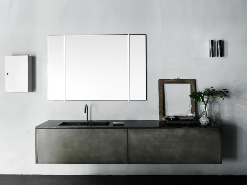 Wall-mounted vanity unit with drawers XILA | Vanity unit - Boffi