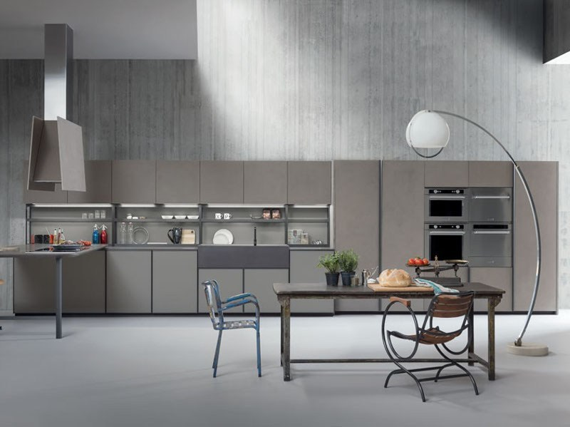 Linear fitted kitchen XP/01 by Zampieri Cucine