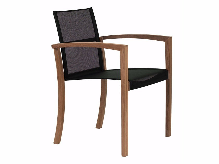 Batyline® garden chair with armrests XQI | Chair - ROYAL BOTANIA
