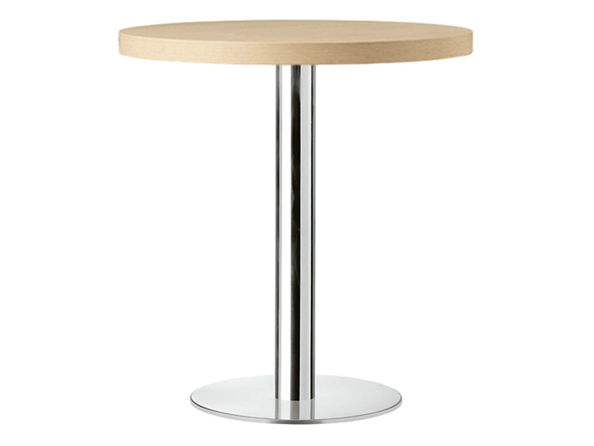 Round steel and wood contract table XT 477 - Metalmobil