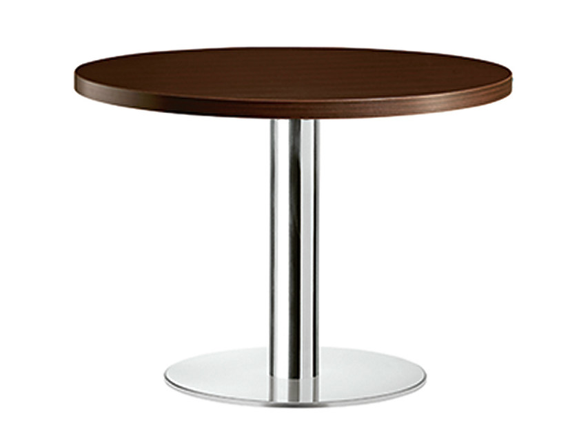 Round steel and wood table XT 477B by Metalmobil