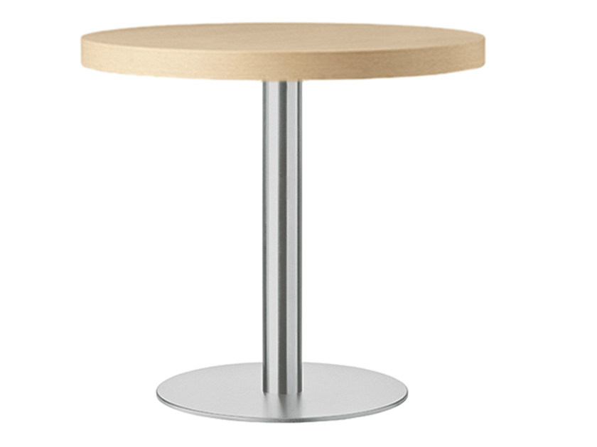 Round steel and wood table XT 478 - Metalmobil