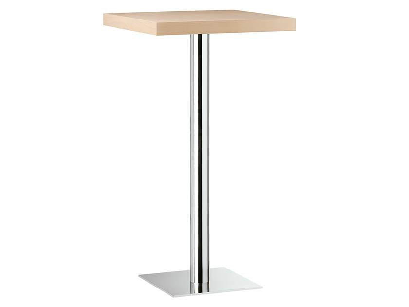 Square steel and wood high table XT 479AT - Metalmobil