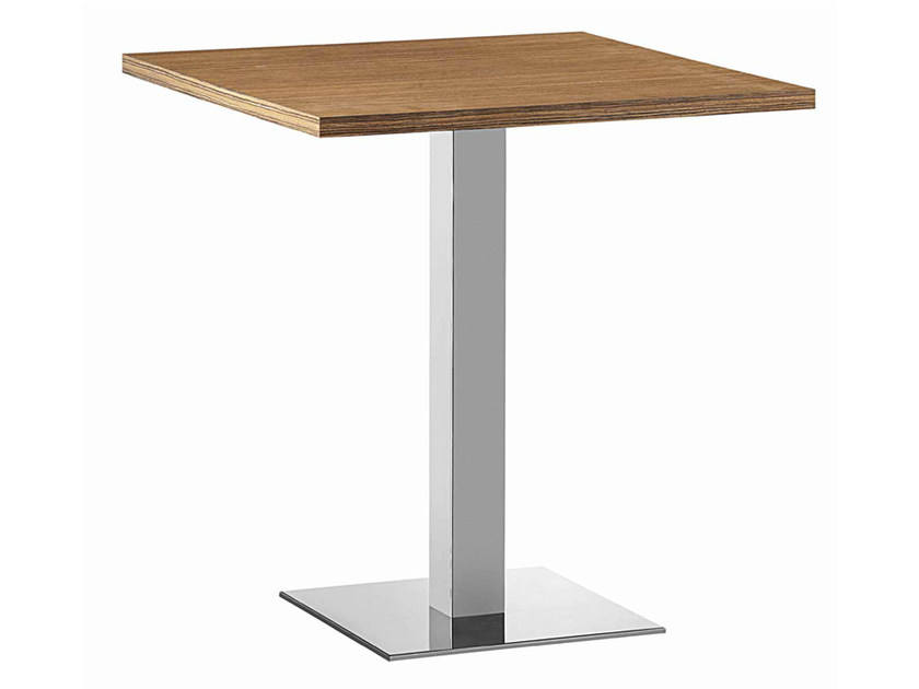 Square steel and wood table XT 479Q - Metalmobil