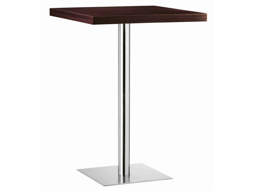 Square steel and wood high table XT 480AT - Metalmobil