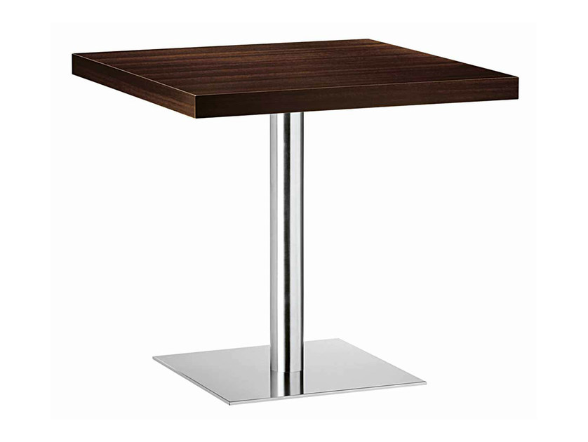 Square steel and wood table XT 480T - Metalmobil
