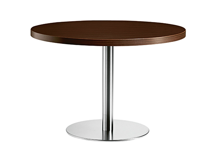 Round steel and wood table XT 492 - Metalmobil