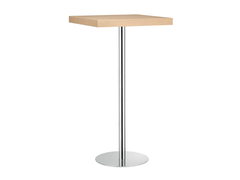 Square steel and wood high table XT 494A - Metalmobil