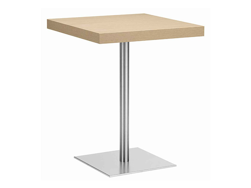 Square steel and wood table XT 495T - Metalmobil