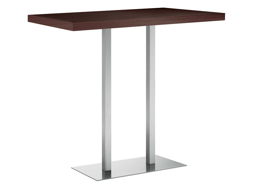Rectangular steel and wood high table XT 496AQ by Metalmobil