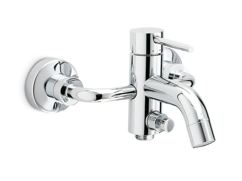 Wall-mounted single handle bathtub mixer with diverter XT | Wall-mounted bathtub mixer - NEWFORM