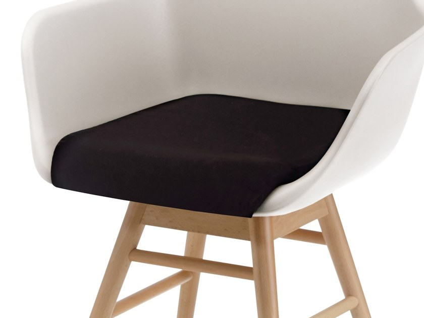 Upholstered fabric easy chair with armrests Y SOFT - ALMA DESIGN